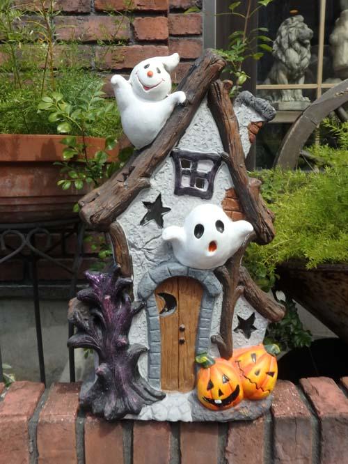 ハロウィン かぼちゃ パンプキン オーナメント『ソーラーライト♪パンプキン&ゴーストハウス』