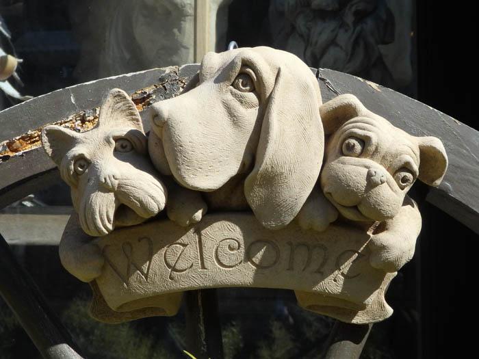 ガーデニング ガーデン 雑貨 ストーン製【花遊び】『Ireland Dog Welcome』