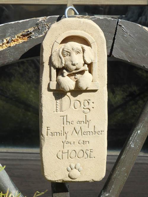ガーデニング ガーデン 雑貨 ストーン製【花遊び】『Ireland Dog Arch Plate』