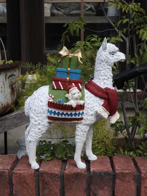 クリスマス サンタ スノーマン トナカイツリー ガーデニング ガーデン アンティーク【花遊び】『クリスマス♪サンニュイ DOGギフトオブジェ』