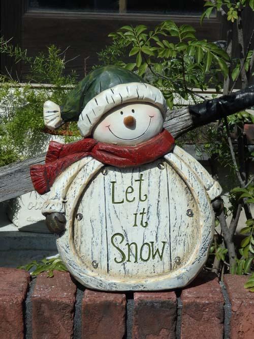 クリスマス サンタ スノーマン トナカイガーデニング ガーデン【花遊び】『LED!まんまるスノーマン』