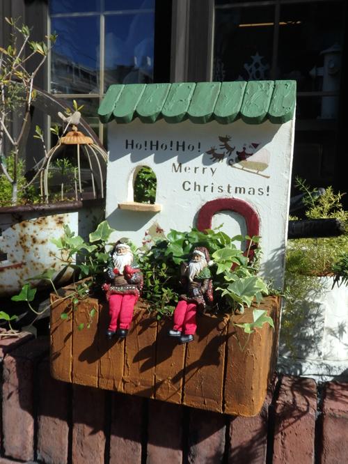 ハウス 家 オーナメント 樹脂 ガーデニング ガーデン アンティーク『クリスマスデコ!グリーン屋根ハウス』
