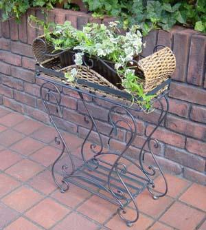 ガーデニング ガーデン 雑貨 『ラタン・プランタースタンド』