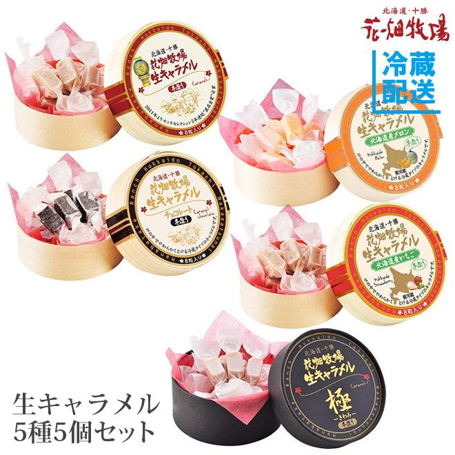 花畑牧場 生キャラメル5種5個セット【冷蔵配送】