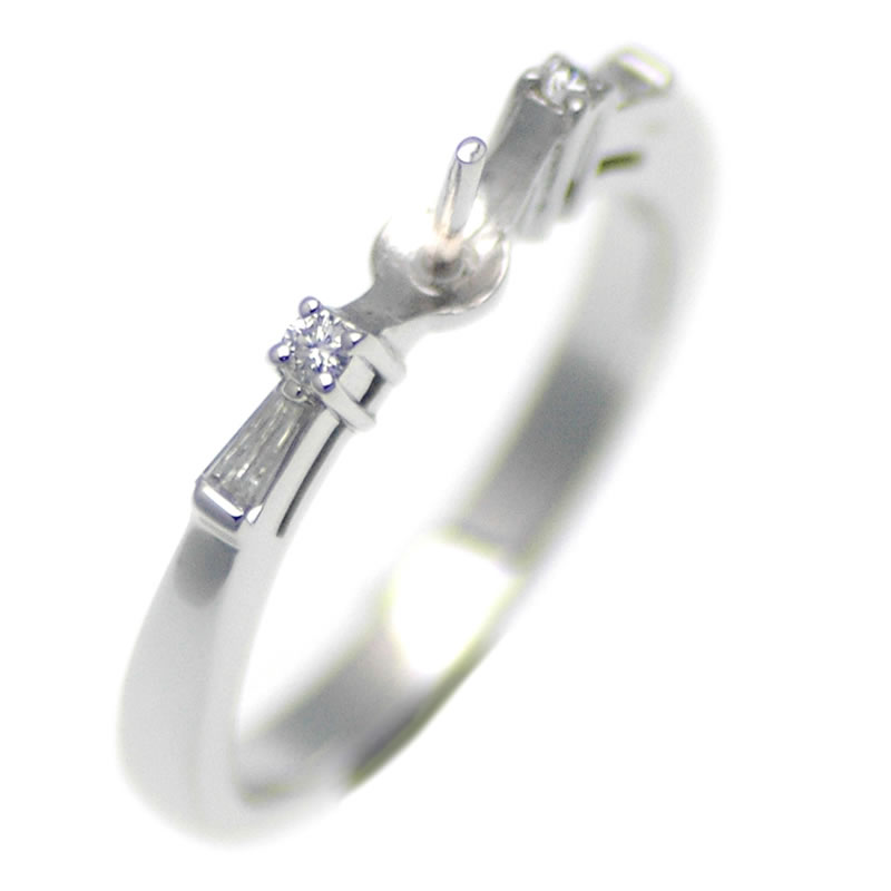 アコヤ真珠用プラチナリング枠 商品番号:R02064