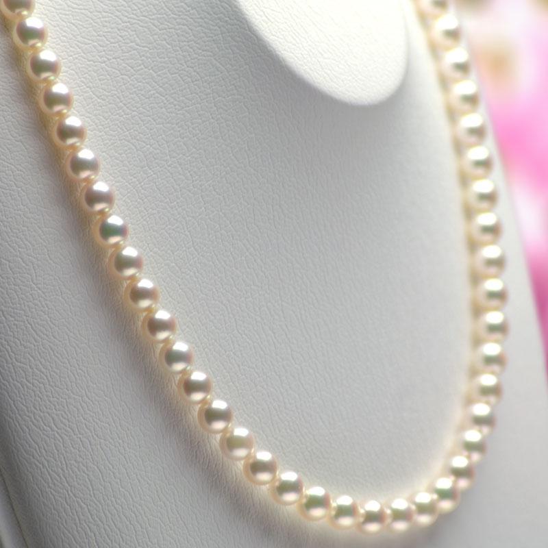 アコヤ真珠ネックレス 6 5mm 7 0mm クリーム系グリーンピンク 商品番号 BA758585jL3RA4