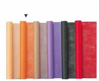 ラッピング用品 梱包資材 ラッピングペーパー 買物 包装紙 ロール 手作り 材料 160-4023-8 ハリー 01 取寄 期間限定お試し価格 オレンジ 65cm×L20m