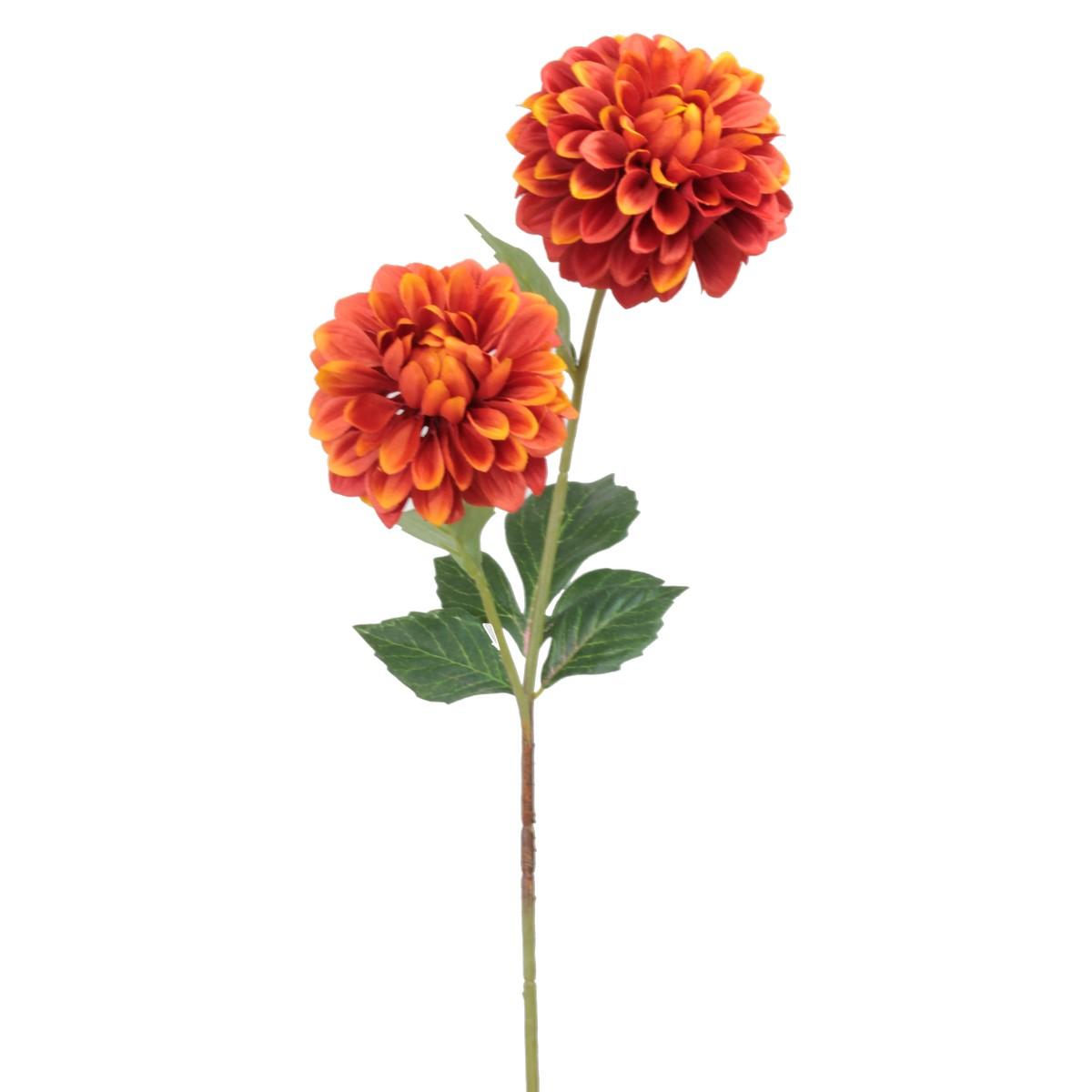 【造花】パレ/ダリアスプレー オレンジ/P-8291-25【01】【取寄】[12本]
