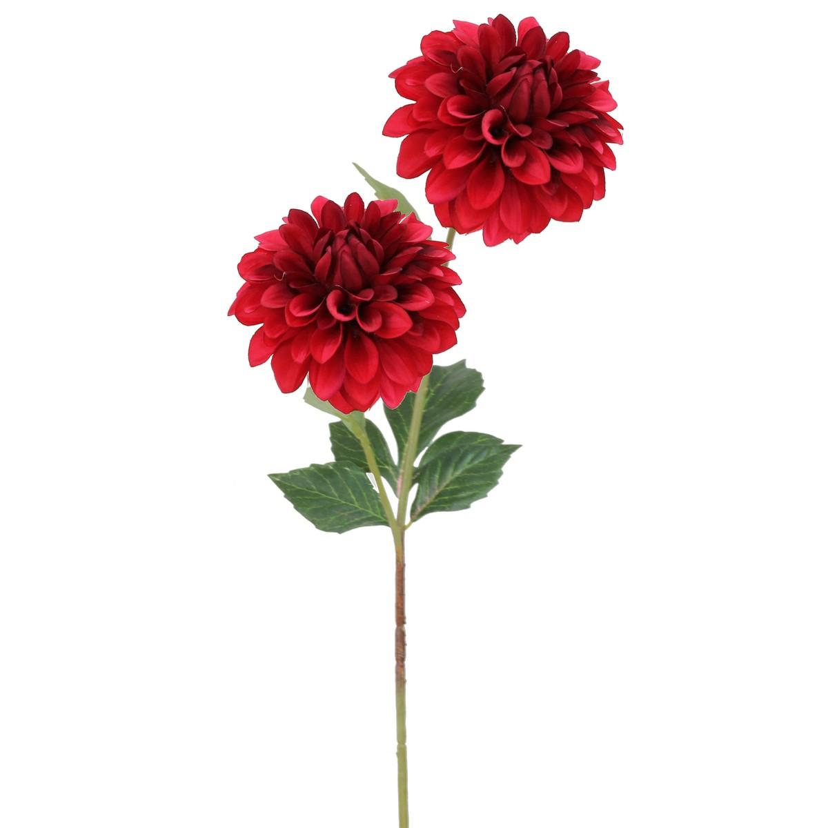 【造花】パレ/ダリアスプレー レッド/P-8291-50【01】【取寄】[12本]《 造花(アーティフィシャルフラワー) 造花 花材「た行」 ダリア 》