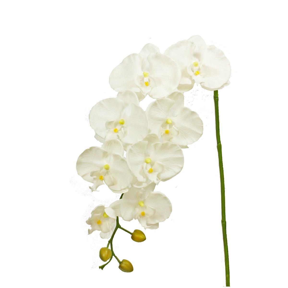 【造花】パレ/オーキッドスプレイ ホワイト/P-8256-10【01】【取寄】[12本]