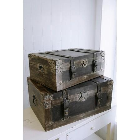 COVENT/ウッデン・トランクボックス 2点セット /BO-01【07】【取寄】《 店舗ディスプレイ 店舗ディスプレイ用品 ディスプレイボックス 》