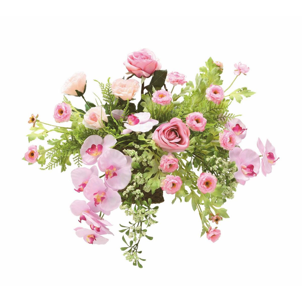 【直送】【造花】光の楽園/光触媒 クリスティピンク/751A100※返品・代引不可【07】【07】《 造花(アーティフィシャルフラワー) 造花ギフト フラワーアレンジ 》