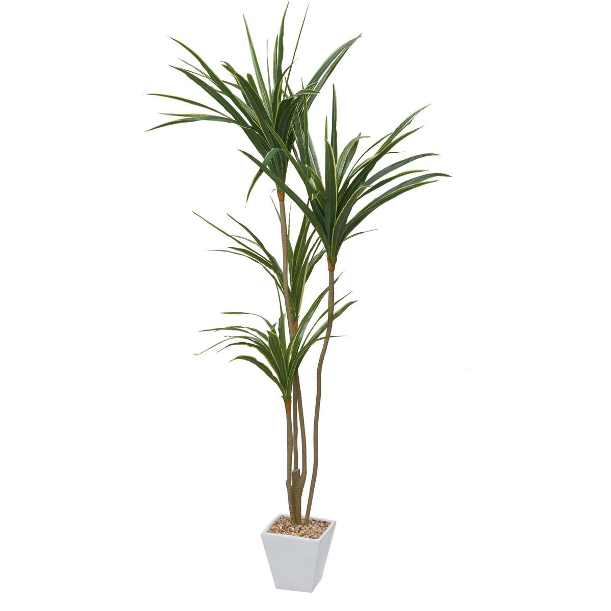【直送】【人工観葉植物】YDM/ユッカポット グリーン/GLA1389-GR※返品・キャンセル不可【01】