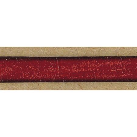 NBK/イタリア製本革コード 15mm×10m 赤/YC15-10-28【01】【取寄】