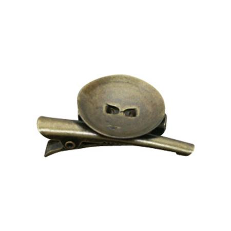 NBK/台付コサージュクリップ 小 20.5mm AG 100個 アンティークゴールド/KE254-100【01】【取寄】