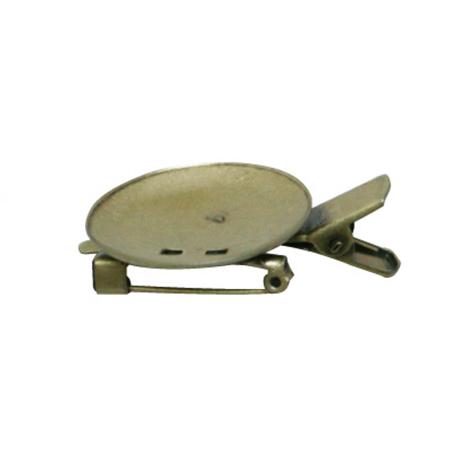 NBK/台付コサージュクリップ 大 37mm AG 100個 アンティークゴールド/KE256-100【01】【取寄】