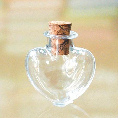 NBK/ミニガラスビン ハート 100個/A13-28-100【01】【取寄】《 手芸用品 アクセサリー ビン・ガラス 》