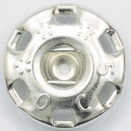 NBK/ニュー500番 スナップ 白(シルバー) 10グロス 1440個/F500-0W-G【01】【取寄】