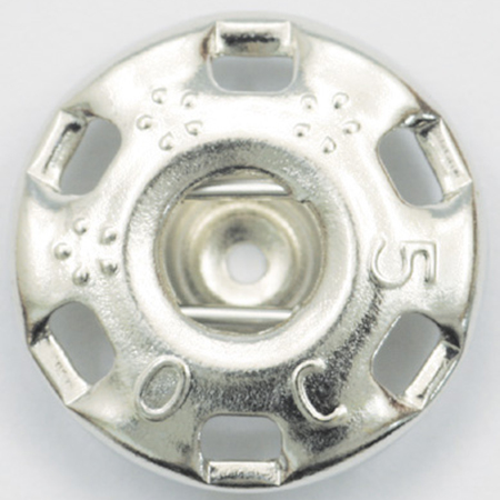 手芸用品 ソーイング資材 保証 ボタン 手作り 材料 NBK ニュー500番 シルバー 5☆好評 07 取寄 白 720個 F500-1W-G スナップ