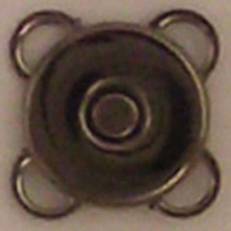 手芸用品 持ち手 新作 人気 金具 マグネットボタン 手作り 材料 NBK 取寄 うす型縫い付けマグネットボタン SM6-BN-30 10mm 30組 07 出色 ブラックニッケル