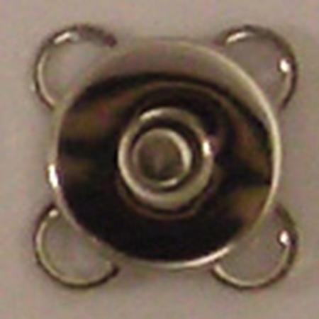手芸用品 持ち手 金具 マグネットボタン 手作り 材料 NBK 07 価格 うす型縫い付けマグネットボタン SM6-S-30 30組 シルバー 取寄 定番 10mm