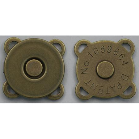 手芸用品 持ち手 金具 マグネットボタン 手作り 奉呈 材料 NBK SM9-AG-30 新着 07 取寄 縫い付けマグネットボタン 30組 アンティークゴールド 18mm