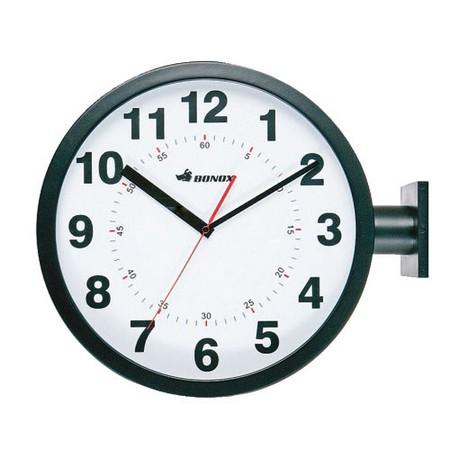 ダルトン/ダブルフェイス ウォールクロック ブラック/S82429BK【01】【取寄】《 店舗ディスプレイ インテリア 時計 》