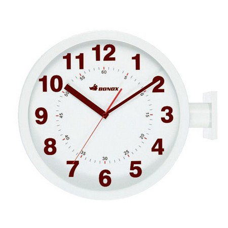 ダルトン/ダブルフェイス ウォールクロック アイボリー/S82429IV【01】【取寄】《 店舗ディスプレイ インテリア 時計 》