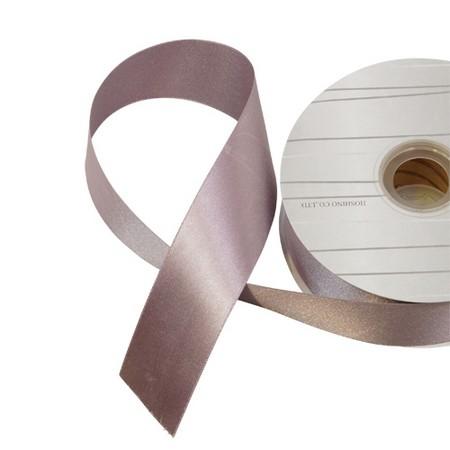 リボン サテンリボン プレーンサテンリボン 購買 ついに再販開始 手作り 材料 HOSHINO ラスターサテン 取寄 40mm巾×45m 322137 01 パープルグレー No.37 40巾