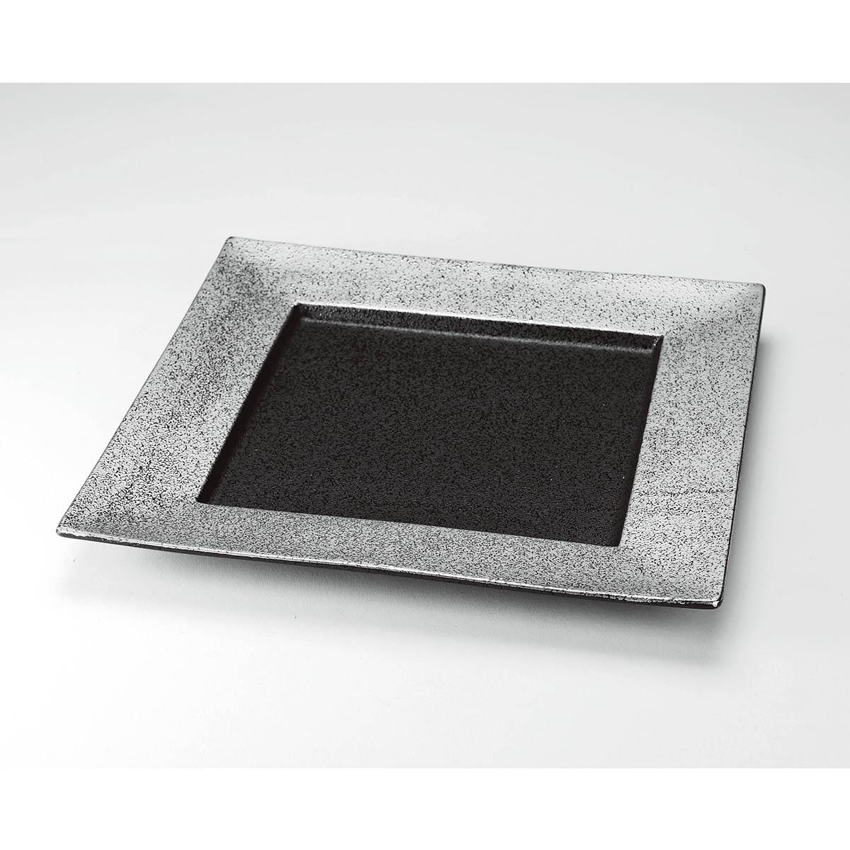 錫音(すずね) 正角皿24cm/CMSZ2491【01】【01】【取寄】[4個]《 雑貨 キッチン用品・調理器具 和食器 》