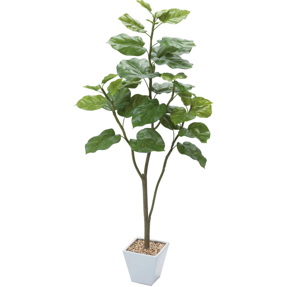 【直送】【人工観葉植物】YDM/ウンベラータ グリーン/GLA-1437-GR※返品・キャンセル不可【01】