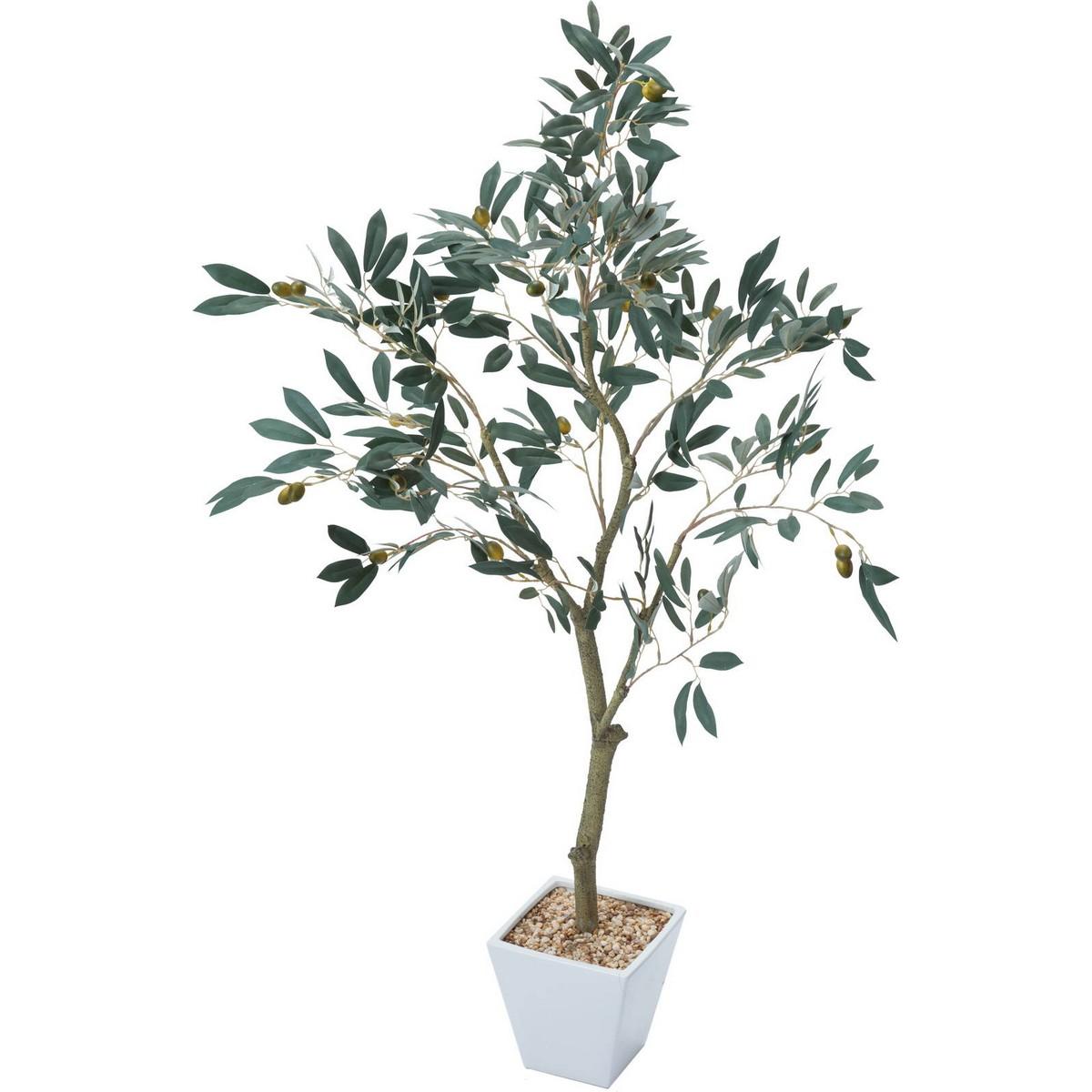 【人工観葉植物】YDM/オリーブツリー グリーン/GLA-1438-GR【01】【取寄】