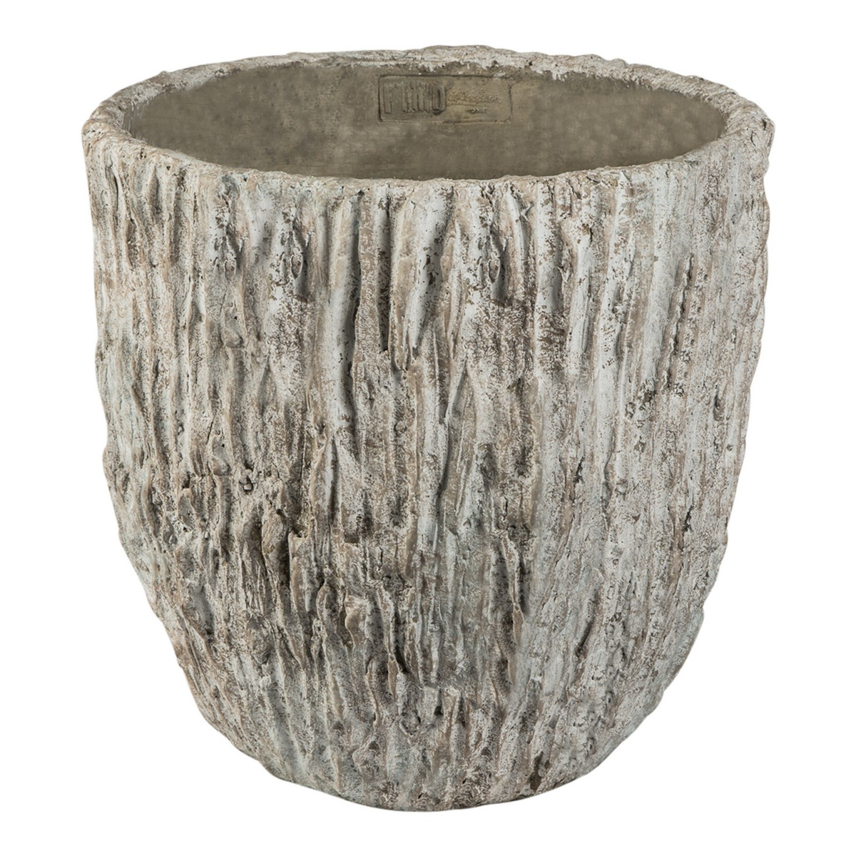 PTMD/Rocky grey cement round pot/666938【01】【取寄】