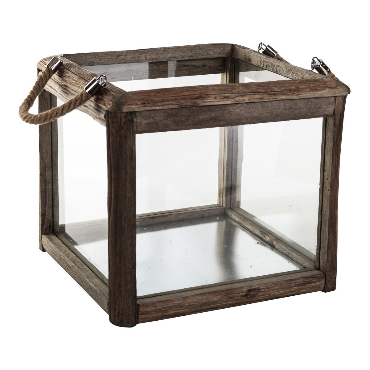 PTMD/Houston brown wood lantern glass/662187【01】【取寄】
