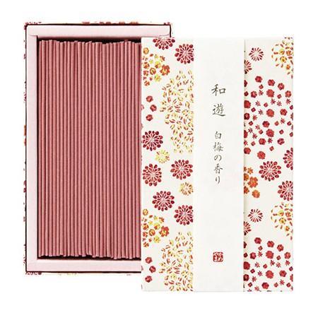 カメヤマ/和遊 白梅の香り 平箱/I2012-02-05【01】【取寄】[5箱]《 キャンドル アロマ アロマ雑貨 》