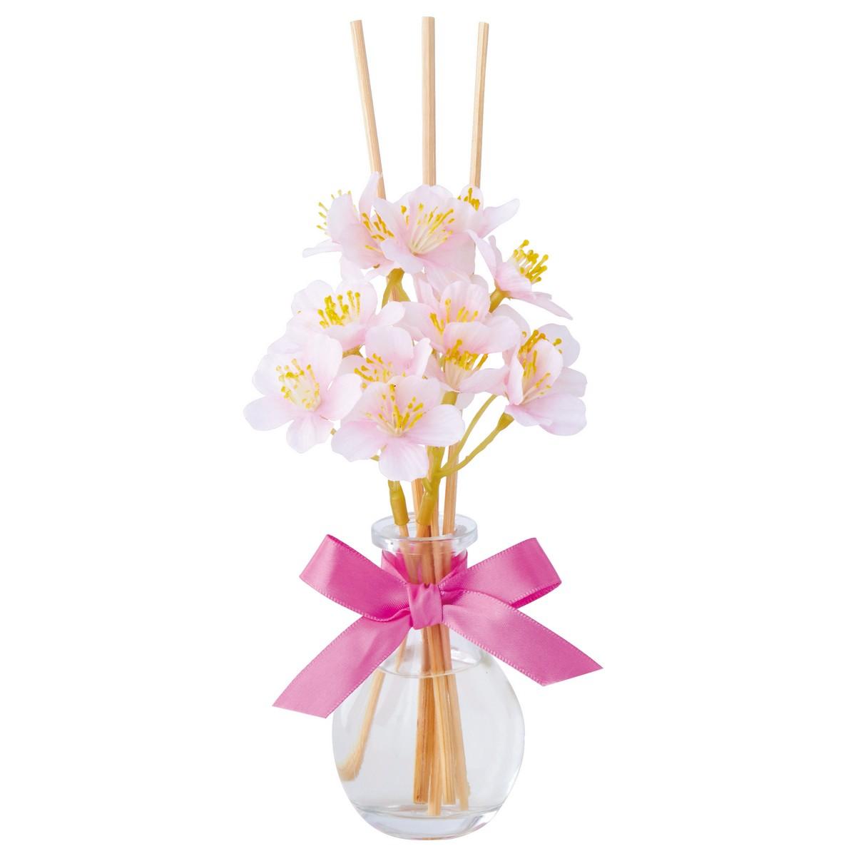 カメヤマ/桜しずくディフューザー パウダーピンク/PE317-05-7120【01】【取寄】[6個]《キャンドル リードディフューザー 完成品》