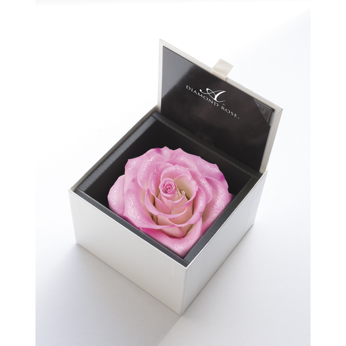 【プリザーブドフラワー】アモローサ/ダイヤモンドローズボックス 105(箱:ホワイト) パリスピンク/1206-22【07】【取寄】[6箱]