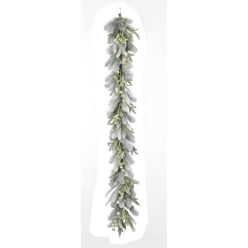 【造花】アスカ/ミックスパインガーランド/AX69259【01】【01】【取寄】《 花器、リース リース土台 スワッグ 》