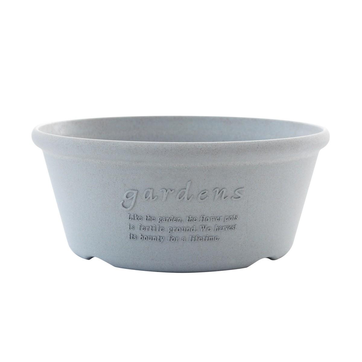八幡化成/エコプランター浅型 360 GY/062856【01】【取寄】[10個]