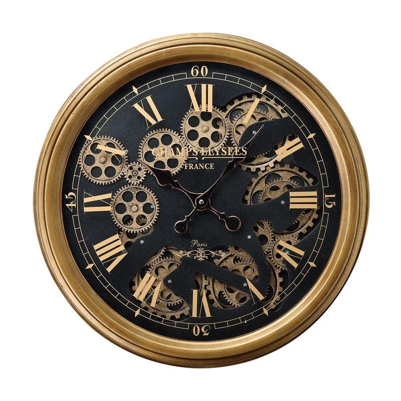 GREENHOUSE/大人の掛け時計 丸型 ゼンマイ仕掛け風/4433【01】【取寄】