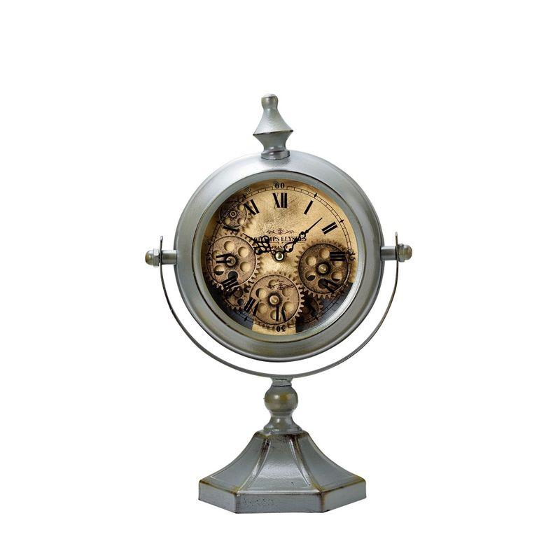 GREENHOUSE/大人の置時計 ゼンマイ仕掛け風/4435【01】【取寄】《 店舗ディスプレイ インテリア 時計 》