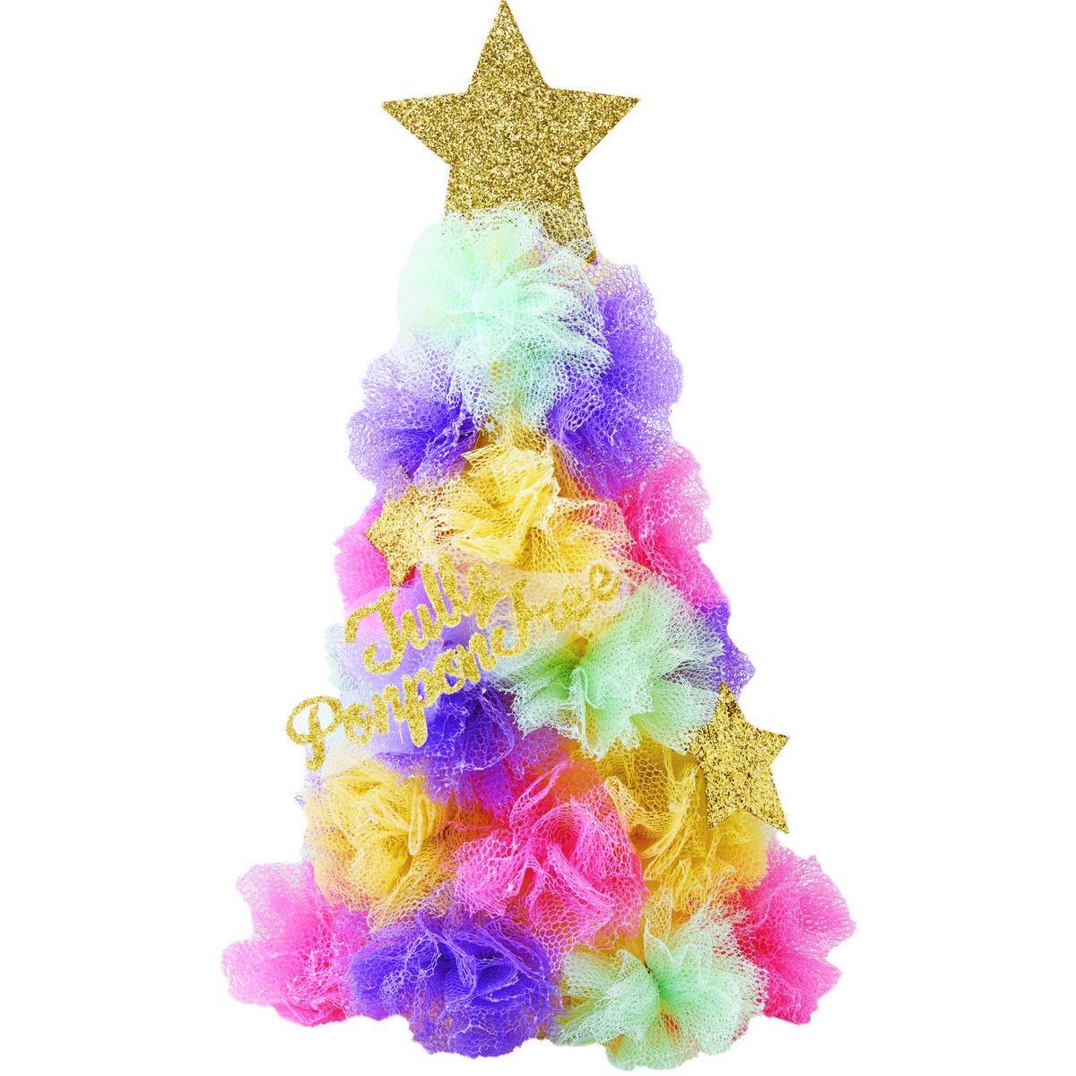 カメヤマ/チュールポンポンツリー/PE334-00-00【01】【取寄】[6個]《 店舗ディスプレイ クリスマス飾り クリスマスツリー 》