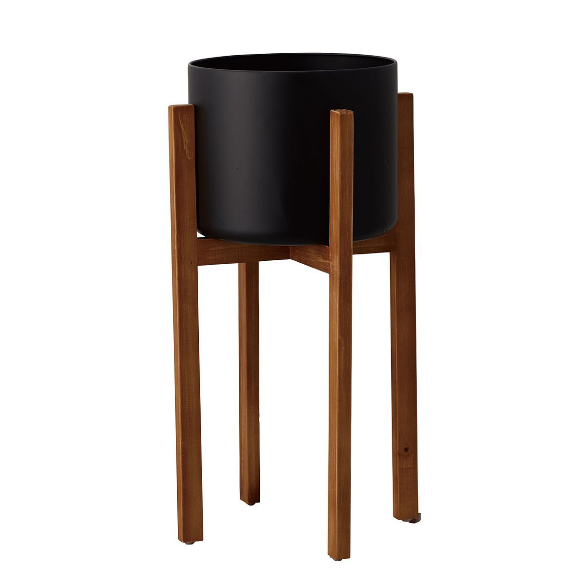 クレイ/Wood stand pot BLACK/510-961-800【01】【取寄】