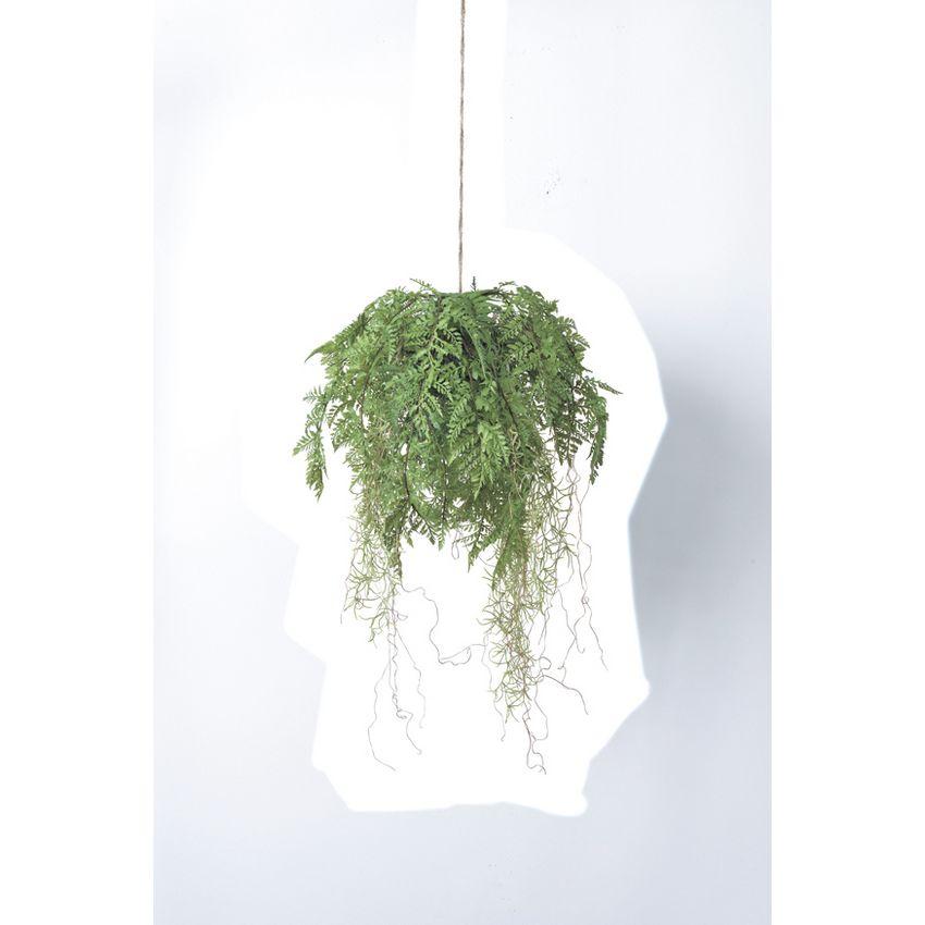 【造花】アスカ/ファーンハンギング #051A グリーン/A-43236-051A【01】【01】【取寄】《 造花(アーティフィシャルフラワー) 造花葉物、フェイクグリーン ファーン 》