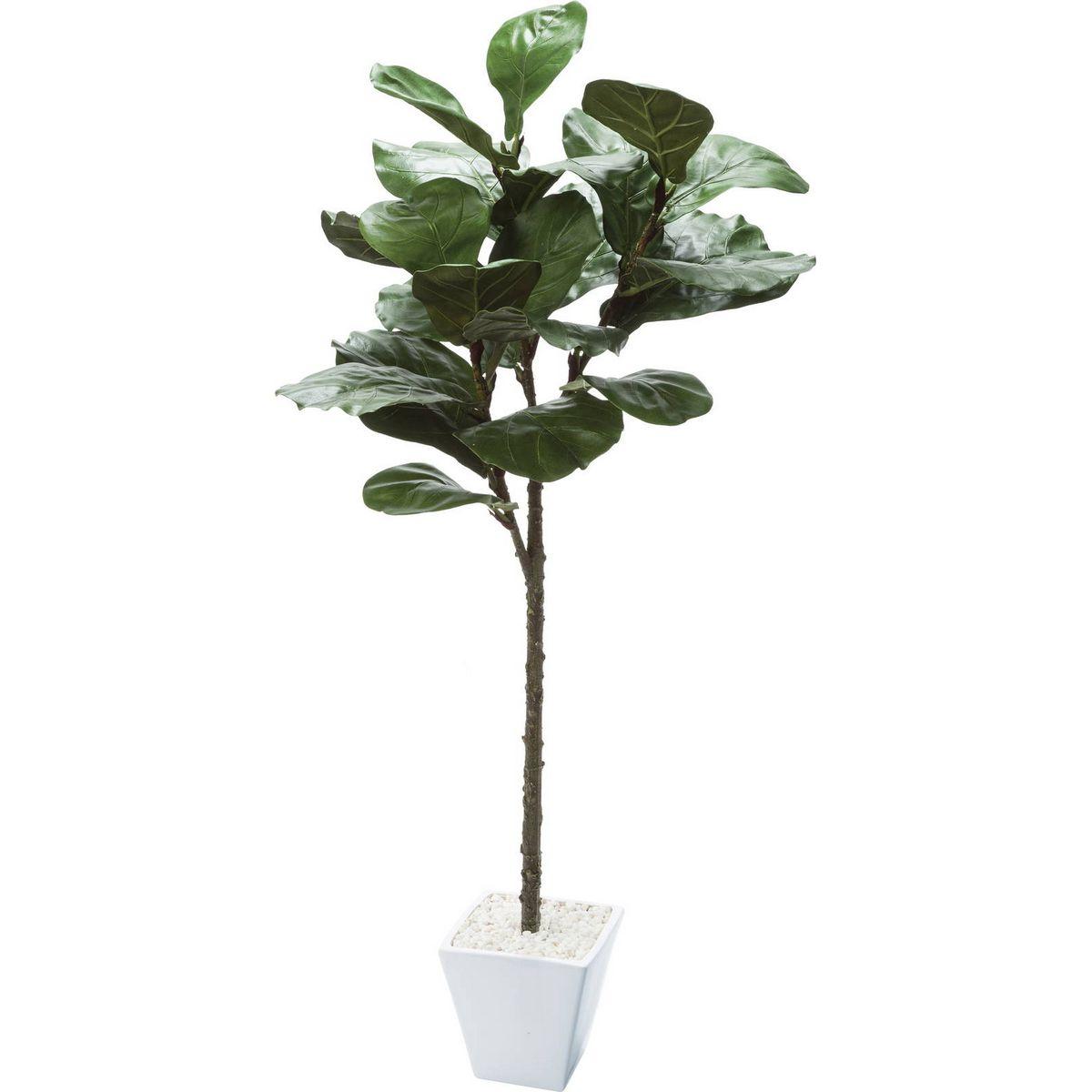 【人工観葉植物】YDM/カシワバポット グリーン/GLA-1501-GR【01】【取寄】