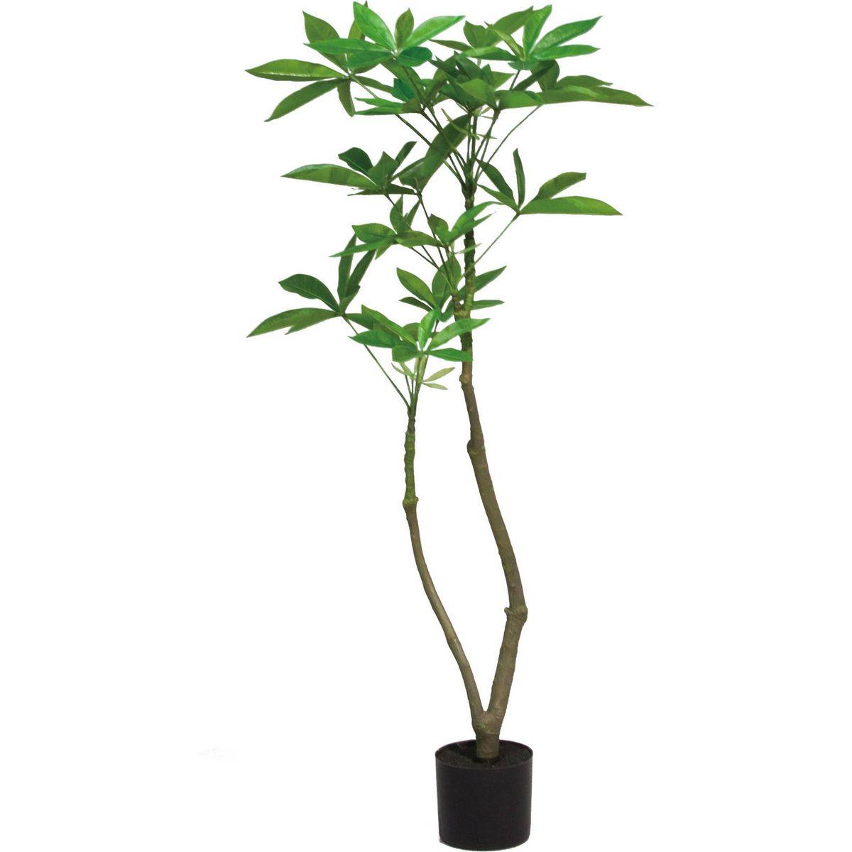 【人工観葉植物】YDM/120CMパキラポット グリーン/GLA-1477-GR【01】【取寄】