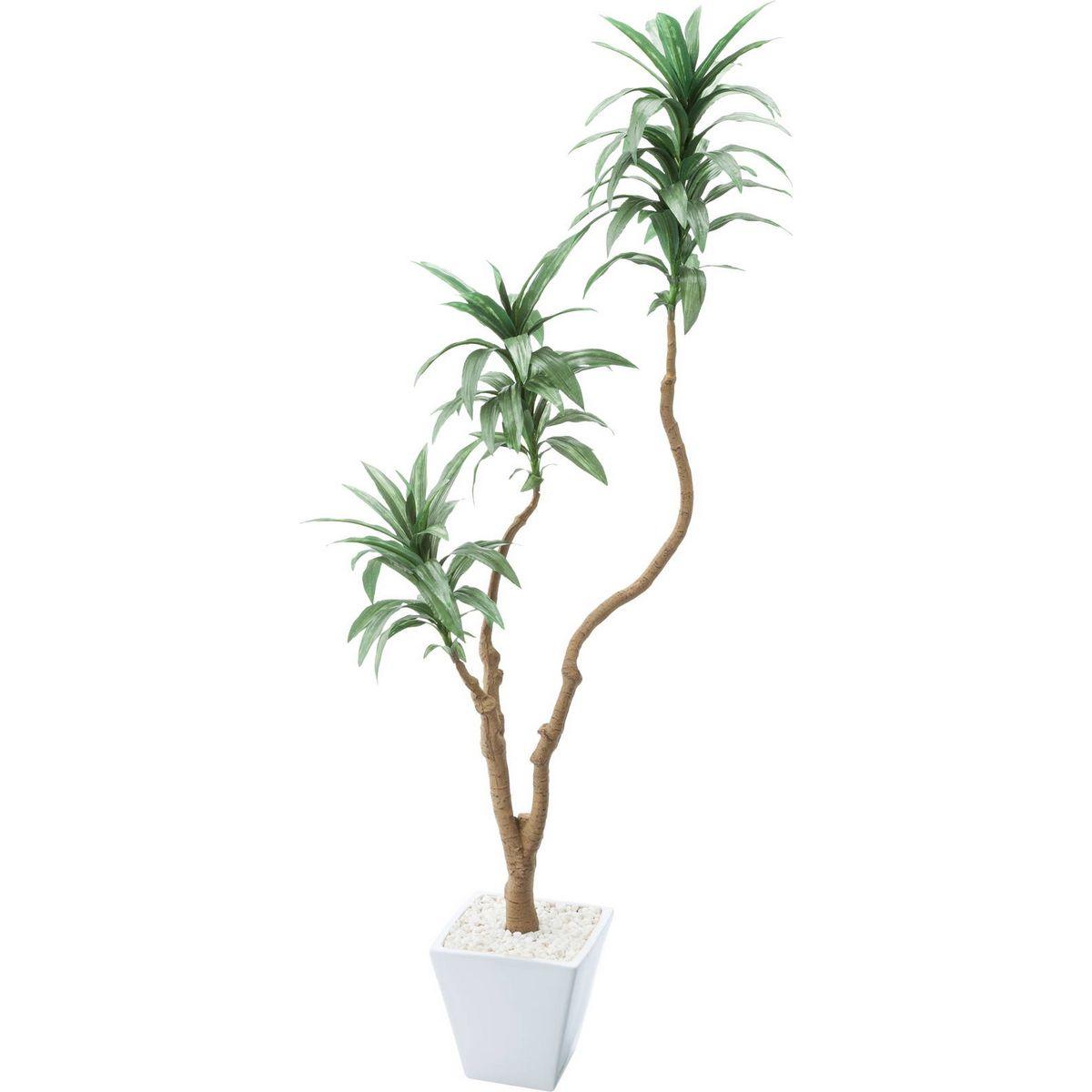【直送】【人工観葉植物】YDM/ドラセナコンパクタポット グリーン/GLA-1471-GR ※返品・代引・キャンセル不可【01】