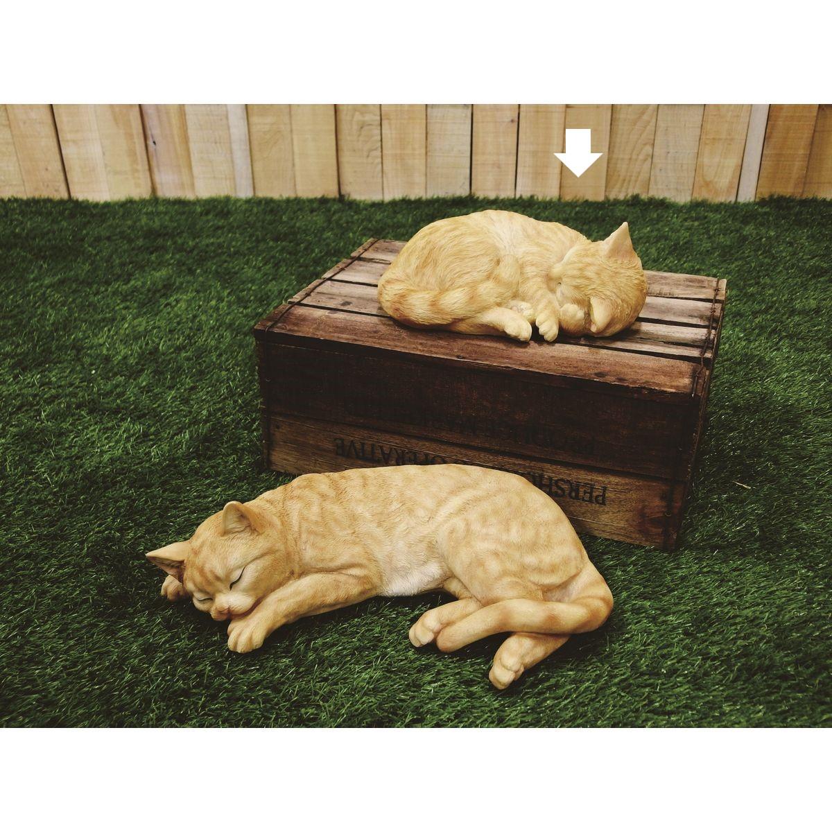 ウエキオリジナル/SHRJ-1602リラックス眠り猫チャトラ【01】【取寄】[8個]