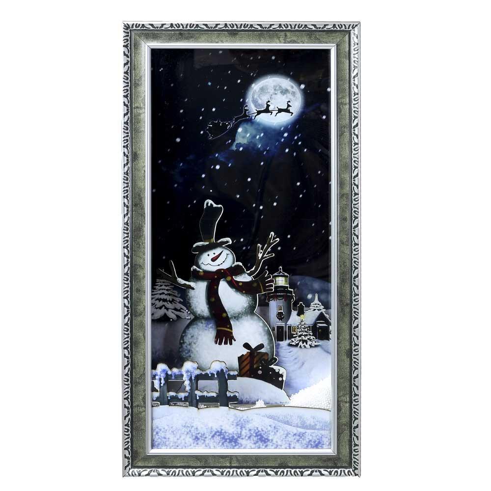 Benny's/スノーイングハングウオールスノーマン/XRH-007【01】【取寄】《 店舗ディスプレイ クリスマス飾り ステッカー・パーティー・店飾 》