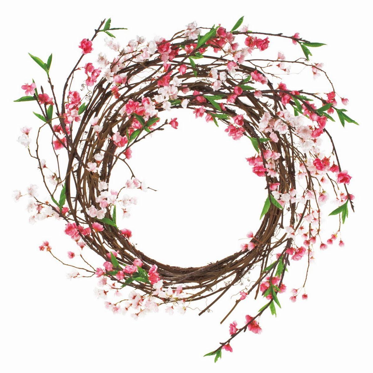 【造花】MAGIQ(東京堂)/華やぎ桜リース/FM000390【01】【取寄】